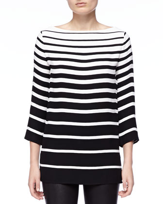 Linette Graduated-Stripe Tunic