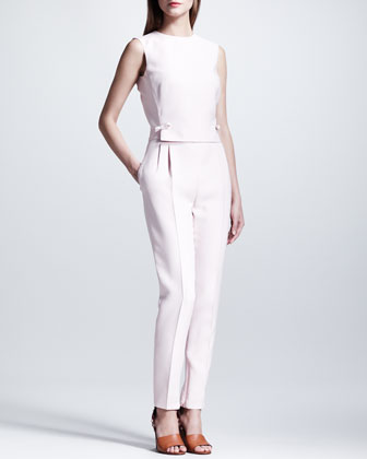 Open-Back Bow Jumpsuit