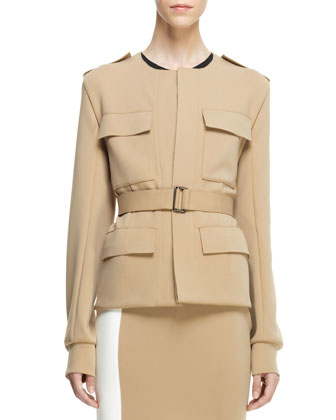 Belted Knit Safari Jacket