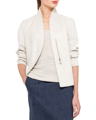 Structured Linen-Blend Jacket