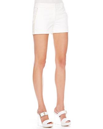 Stud-Side Twill Shorts