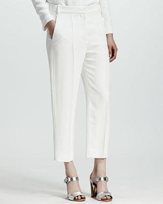 Python Jacquard Pants, White