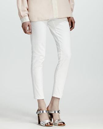 Four-Pocket Jeans, White