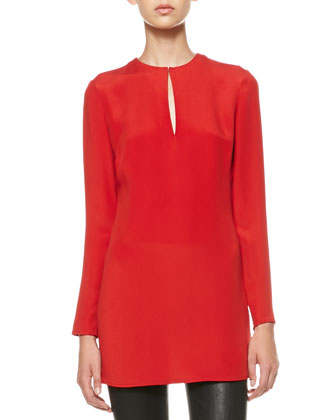 Marguerite Long-Sleeve Keyhole Tunic