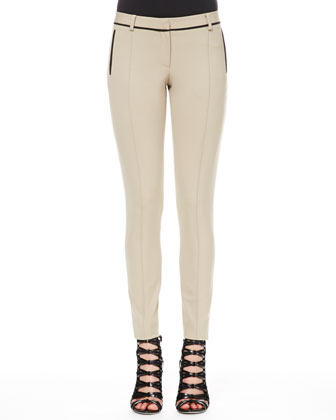 Bi-Stretch Wool Ankle Pants
