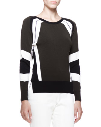 Banham Racing Stripe Sweater and Marston Cropped Twill Pants