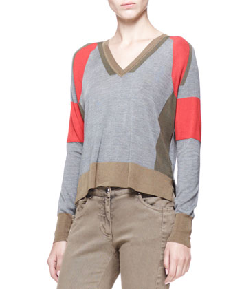 Holmes Colorblock V-Neck Sweater