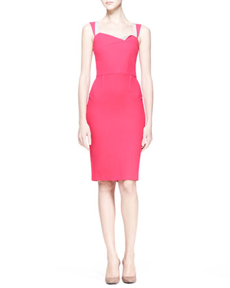 Meissa Crepe Sheath Dress