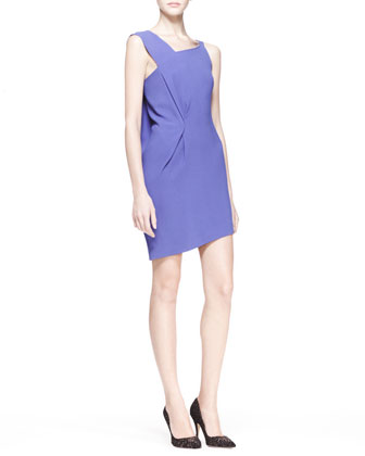 Anser Asymmetric-Shoulder Dress
