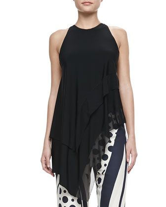 Asymmetric Draped-Neck Top