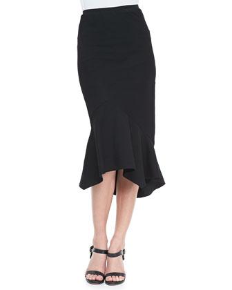Asymmetric Trumpet Skirt