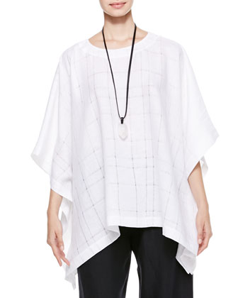 Wide T-Shirt Caftan, White