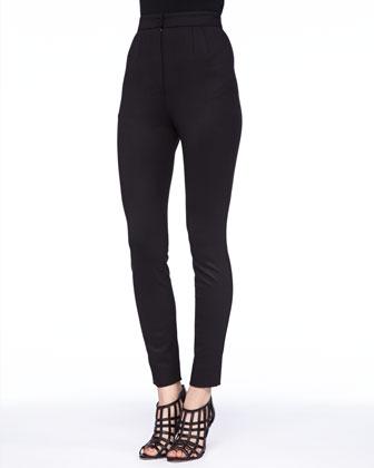 Tech Fabric Stretch Leggings, Black