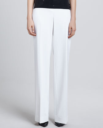 Diana Stretch Wide-Leg Pants, White