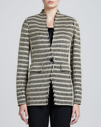 Corinthian-Collar Jacket, Caviar/Gold