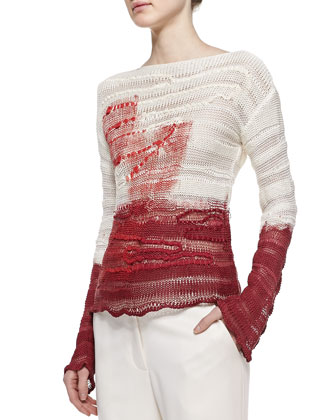 Interwoven Silk Pullover