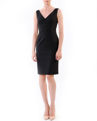 Sleeveless Sheath Dress, Black