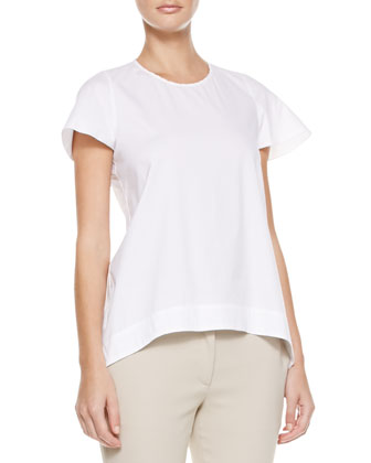 Short-Sleeve Cotton Blouse