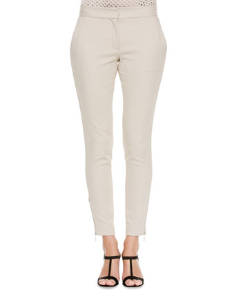 Techno Slim-Fit Pants, Khaki
