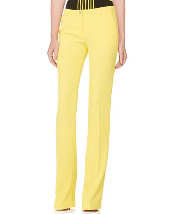 Boot-Cut Slacks, Yellow