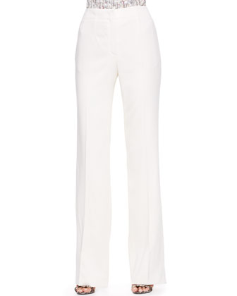 Wide-Leg Pants, Off-White