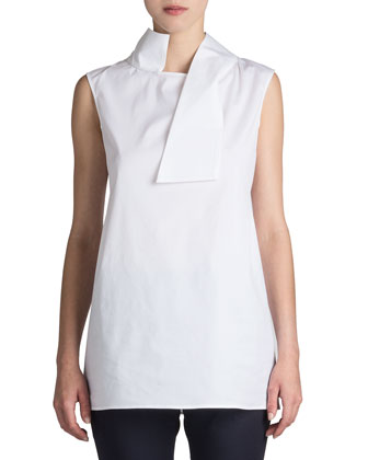 Rock Asymmetric-Collar Blouse