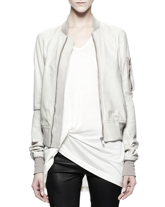 Flight Bomber Jacket, Pearl White