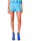 Lace Shorts, Turquoise