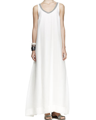 Monili-Neck Maxi Dress