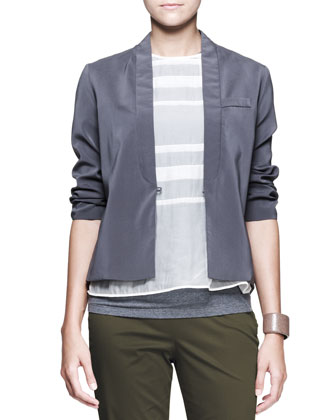 3/4-Sleeve Sateen Jacket