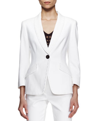 Bracelet-Sleeve Jacket, White