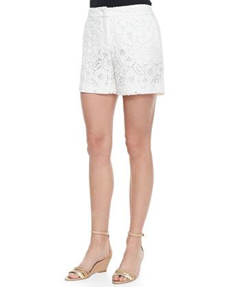 Floral Lace Midi Shorts