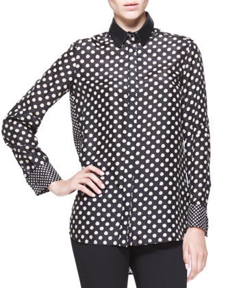 Reade Polka-Dot Blouse