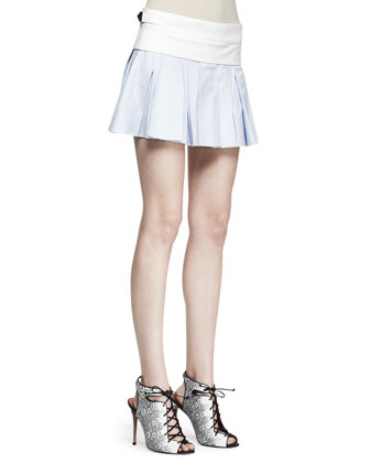 Irregular Pleat Short Skirt