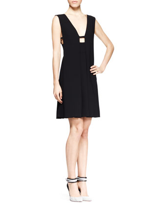 Sleeveless Box-Pleat Dress