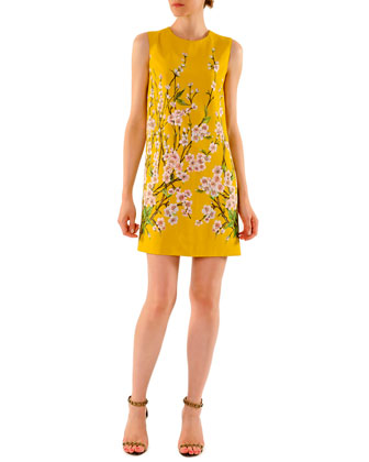 Floral Blossom Printed Mini Shift Dress