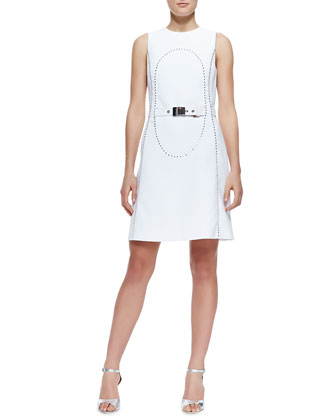 Elliptical Studded Dress