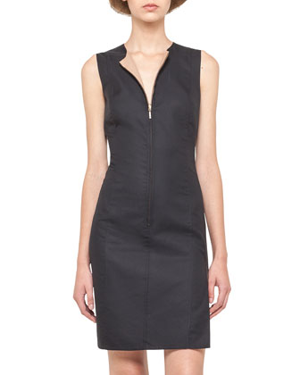 Reversible Zip-Front Sheath Dress