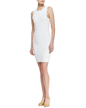 Sleeveless Sheath Ribbed Dress