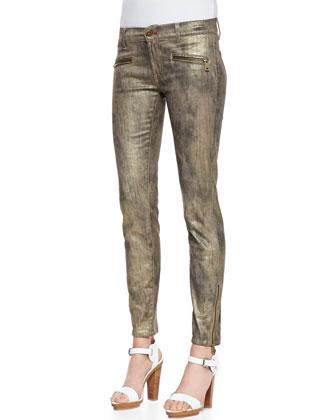 400 Blackened Gold Skinny Pants