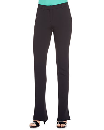 Cady Flare-Leg Pants, Black