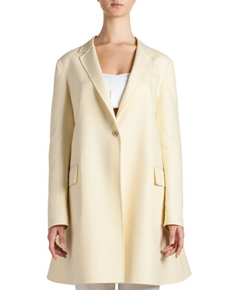 Fluted Full-Back Duster Jacket