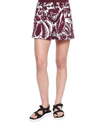 Hibiscus Printed Midi Shorts