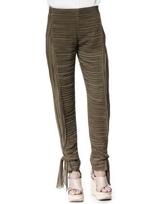Tie-Ankle Pants, Khaki