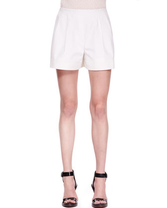 Notched Elastic-Back Shorts