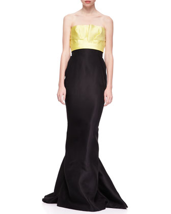 Bicolor Strapless Mermaid Gown