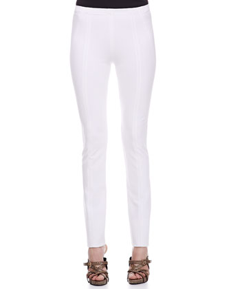 Seamed Leggings, White
