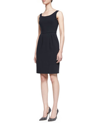 Midnight Tank Dress with Seamed Waist, Navy
