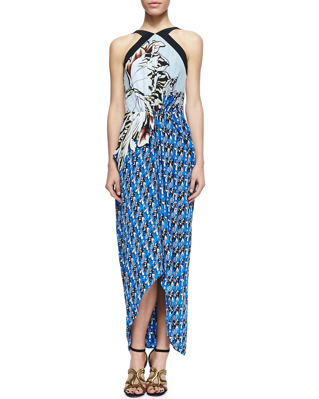 Womens Long Printed Halter Sarong Dress   Etro   (44/10)