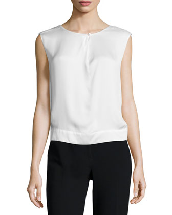 Sheer Sleeveless Top, Porcellana